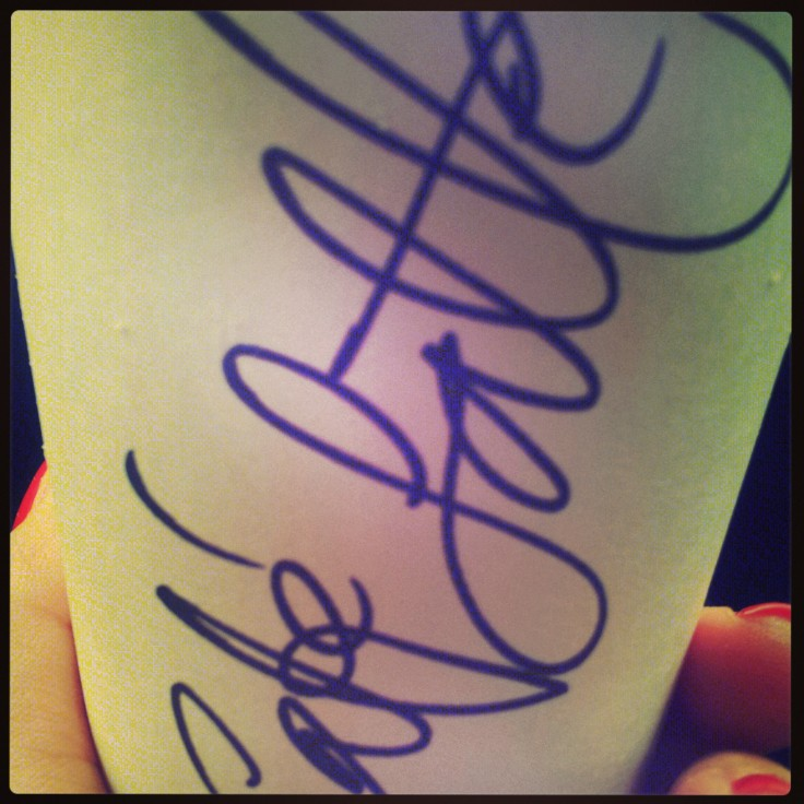 If coffee is as good as your handwriting, I may fall in love with you...